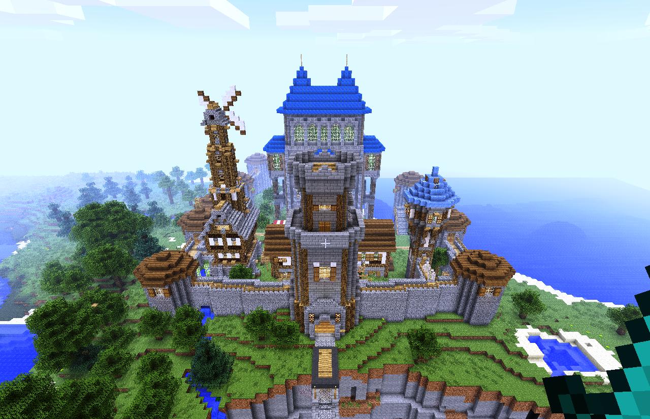 Карта на выживание майнкрафт башня как у замка
